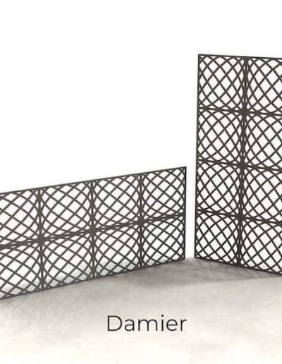 panneau-metal-decoratif-damier