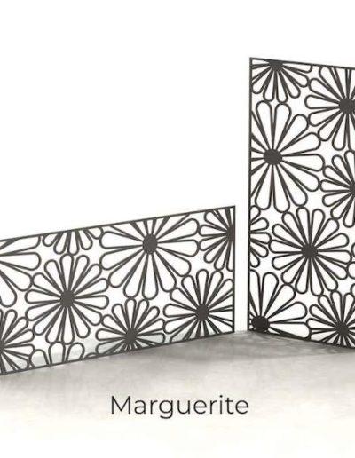 panneau-metal-decoratif-marguerite