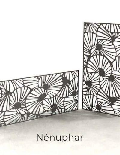 panneau-metal-decoratif-nenuphar