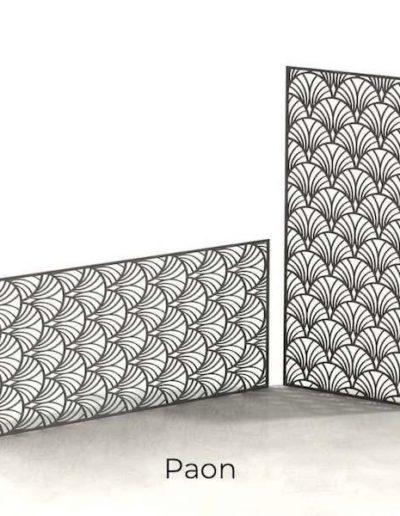 panneau-metal-decoratif-paon
