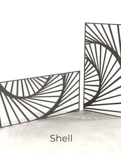 panneau-metal-decoratif-shell
