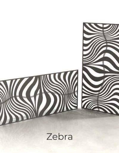 panneau-metal-decoratif-zebra