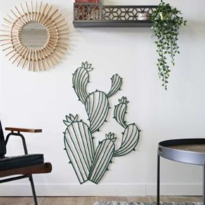 cactus-murale-déco-acier