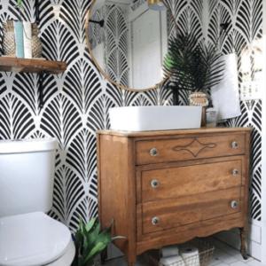 toilettes-idées-déco-meuble